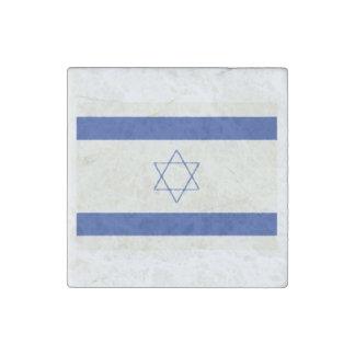Israel Flag Oil Painting Stone Magnet