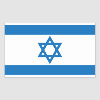 Israel Flag Rectangular Sticker