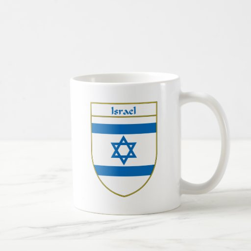 Israel Flag Shield Mugs