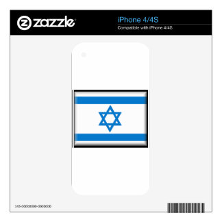 Israel Flag Decal For iPhone 4