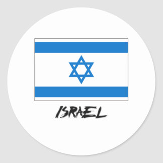 Israel Flag Round Stickers