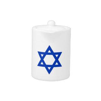 Israel Flag Teapot