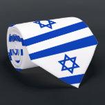"""Israel flag tie<br><div class=""""desc"""">Flag of Israel</div>"""