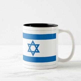 Israel Flag Two-Tone Coffee Mug
