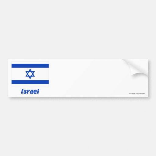 Israel Flag with Name Car Bumper Sticker