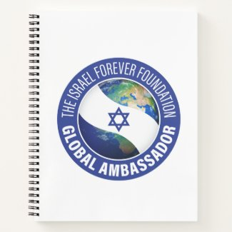 Israel Forever Global Ambassador Spiral Notebook
