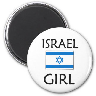 ISRAEL GIRL 2 INCH ROUND MAGNET