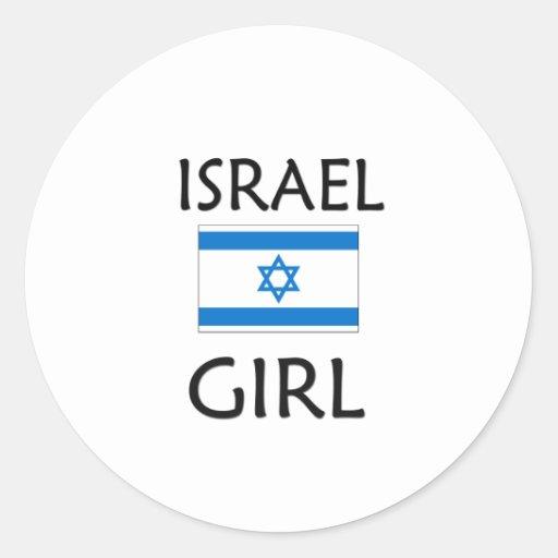 ISRAEL GIRL CLASSIC ROUND STICKER