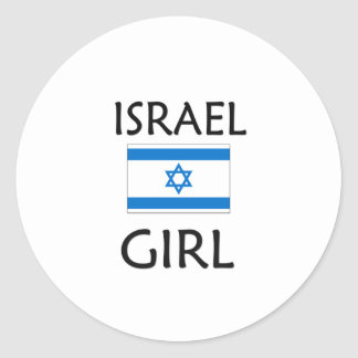 ISRAEL GIRL ROUND STICKERS