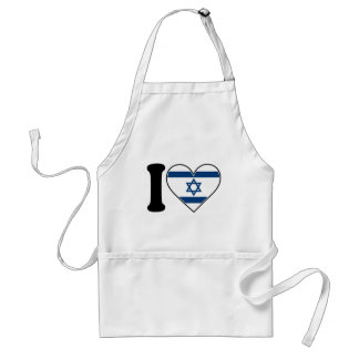 Israel Heart Flag Adult Apron