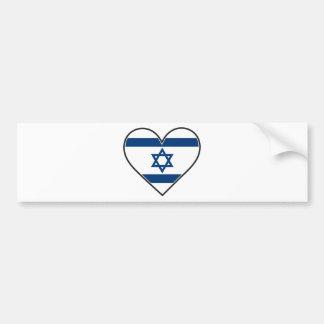 israel heart flag bumper sticker