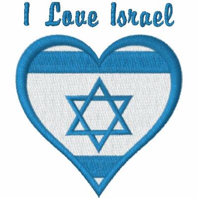 Israel Heart Flag Embroidered Sweatshirts, Tees Embroidered Hoodie
