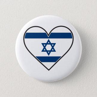 israel heart flag pinback button