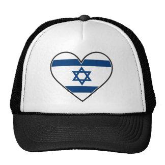 israel heart flag trucker hats