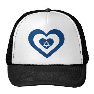 Israel Heart Mesh Hat