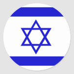Israel High quality Flag Round Sticker