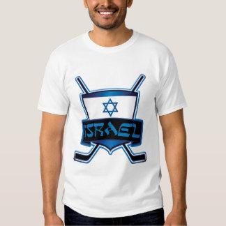 Israel Ice Hockey Flag Tee Shirt