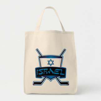 Israel Ice Hockey Flag Tote Bag