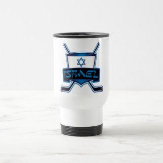 Israel Ice Hockey Flag Travel Mug