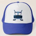 Israel Ice Hockey Flag Trucker Hat