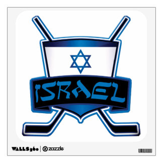 Israel Ice Hockey Flag Wall Decal
