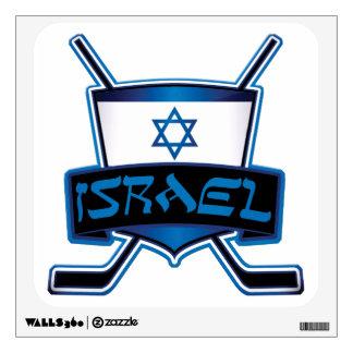 Israel Ice Hockey Flag Wall Decal