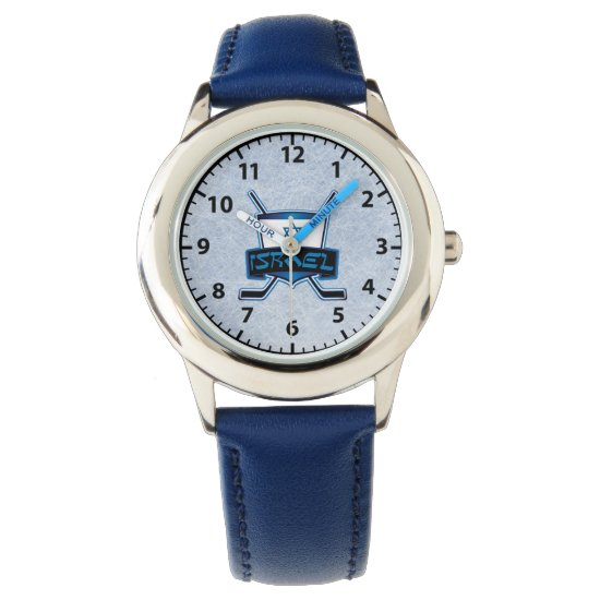 Israel Ice Hockey Logo Wrist Watch