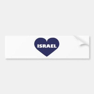 Israel in My Hart Car Bumper Sticker