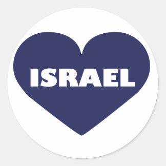 Israel in My Hart Classic Round Sticker