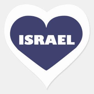 Israel in My Hart Heart Sticker