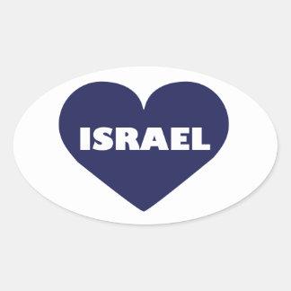 Israel in My Hart Oval Sticker