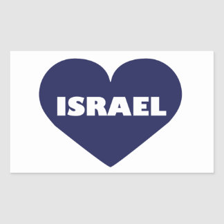 Israel in My Hart Rectangular Sticker