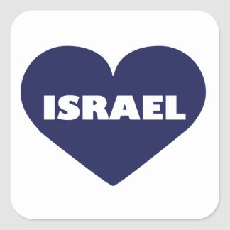 Israel in My Hart Square Sticker