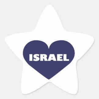 Israel in My Hart Star Sticker