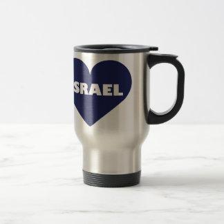 Israel in My Hart Travel Mug