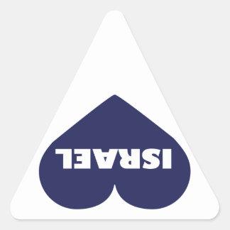 Israel in My Hart Triangle Sticker