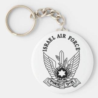 Israel Israeli Army ZAHAL Air Force Emblem Basic Round Button Keychain