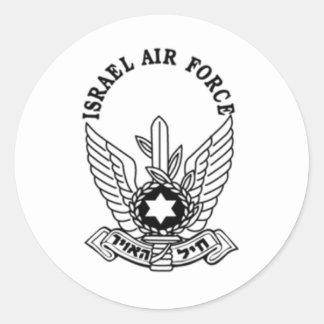 Israel Israeli Army ZAHAL Air Force Emblem Classic Round Sticker