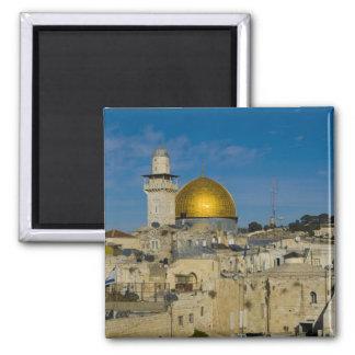 Israel, Jerusalem, Dome of the Rock 2 Inch Square Magnet
