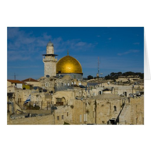 Israel, Jerusalem, Dome of the Rock Greeting Card