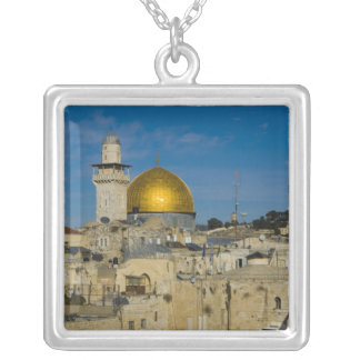 Israel, Jerusalem, Dome of the Rock Silver Plated Necklace