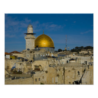 Israel, Jerusalén, bóveda de la roca Posters