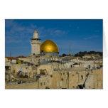 Israel, Jerusalén, bóveda de la roca Tarjeta De Felicitación