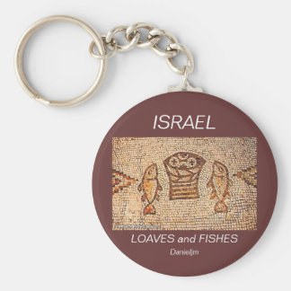 ISRAEL LOAVES and FISHES Keychain