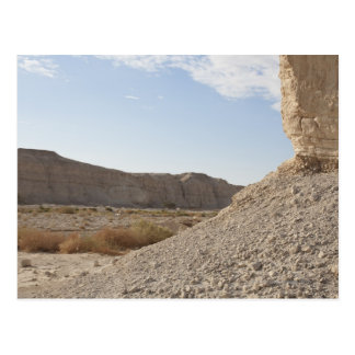 Israel, mar muerto, paisaje del desierto tarjeta postal