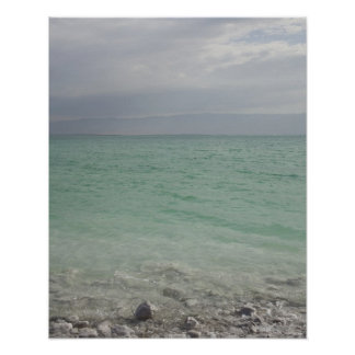 Israel, mar muerto, paisaje marino impresiones