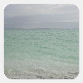 Israel, mar muerto, paisaje marino calcomanía cuadradas personalizada