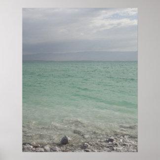 Israel, mar muerto, paisaje marino póster