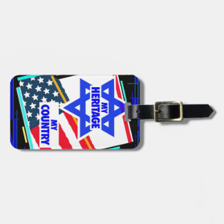 Israel my Heritage USA my Country Luggage Tags