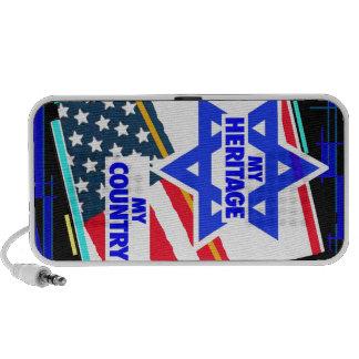 Israel,...my Heritage, USA,... my Country. Laptop Speaker